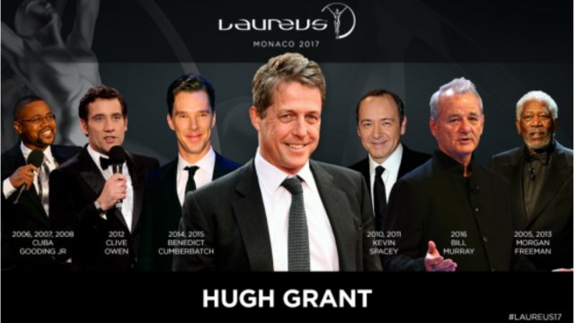 Hugh Grant to Host the 2017 Laureus Awards