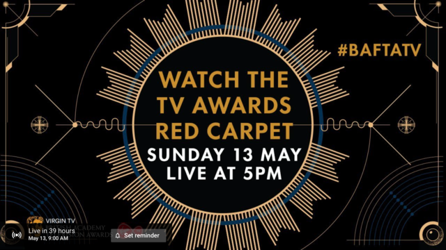 Watch the BAFTA TV Awards Red Carpet Live