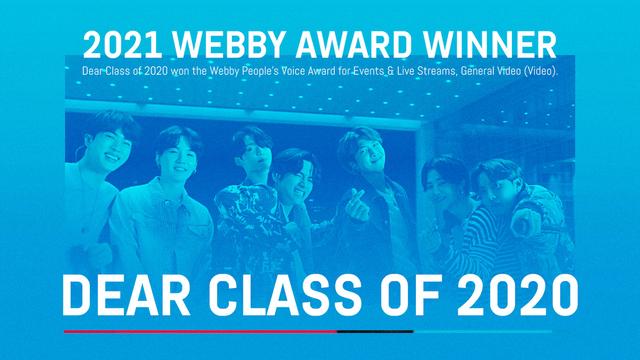 Dear Class of 2020 Has Won a Webby Award!