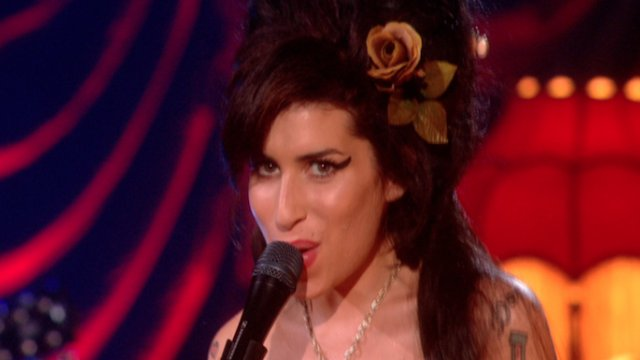 Amy Winehouse at the 50th Grammy Awards