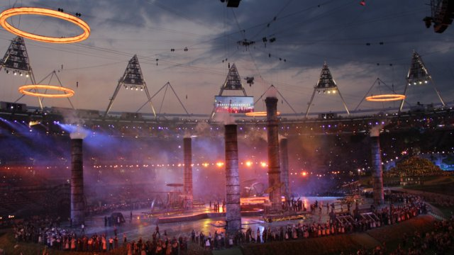 Filming The London 2012 Olympics Opening Ceremony