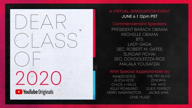YouTube's Dear Class of 2020 Graduation Special Launches Superstar Lineup